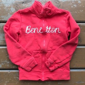 3/$30 United Colors of Benetton zip up sweater